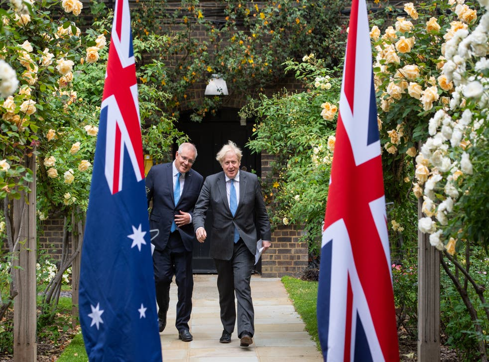 Boris Johnson meets Scott Morrison