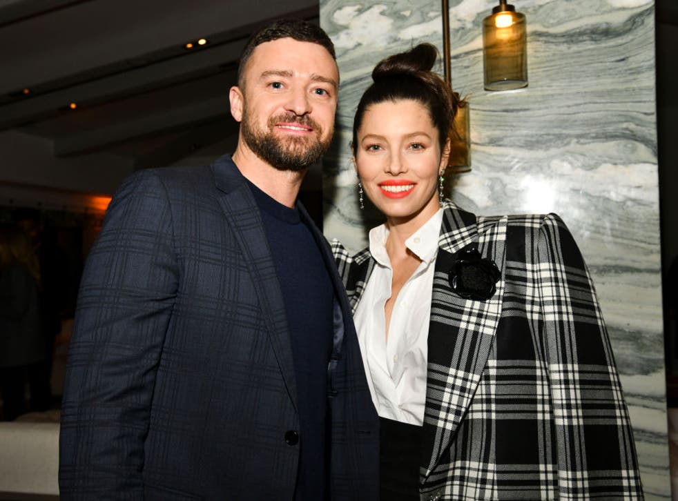 """<p>Justin Timberlake and Jessica Biel pose for portrait at the Premiere of USA Network's """"The Sinner"""" Season 3 on 3 February 2020 in West Hollywood</p>"""