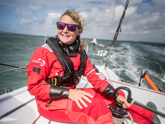 <p>Pip Hare completed the Vendée Globe</p>