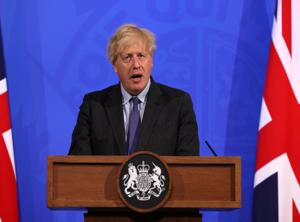 <p>Boris Johnson will face a Tory revolt in the Commons on Wednesday evening, over a month-long extension of lockdown restrictions</p>