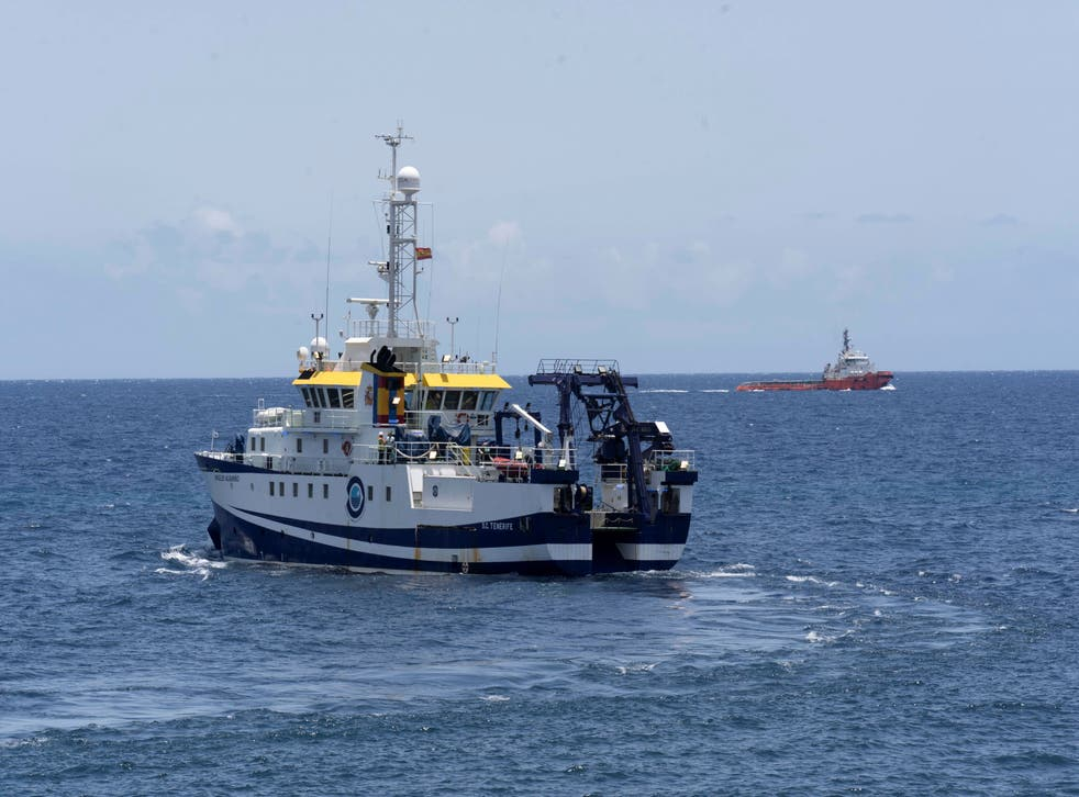 <p>The 'Angeles Alvarino' is involved in the search operations off the coast of Tenerife, Spain. </p>