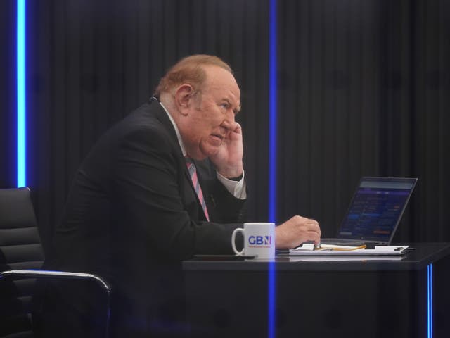 <p>Presenter Andrew Neil during the launch for GB News</p>