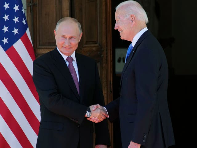 <p>Vladimir Putin and Joe Biden</p>