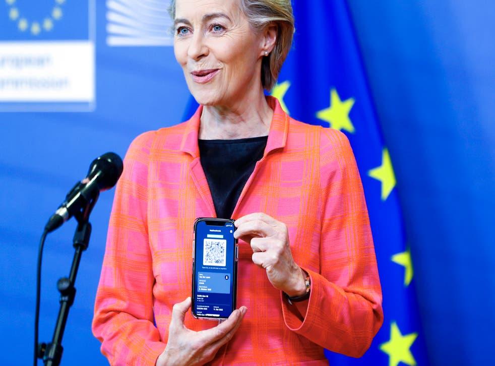 Virus Outbreak EU Travel Certificate