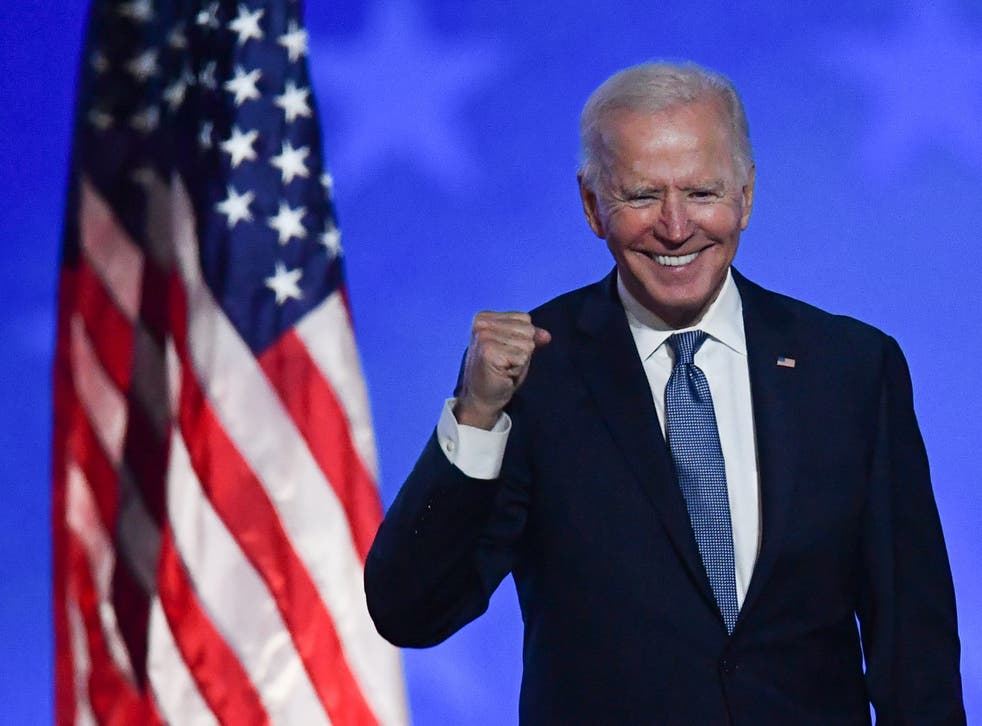 <p>Joe Biden gestures after speaking during election night at the Chase Center in Wilmington, Delaware, early on November 4, 2020. The Biden administration is planning on gathering 1,000 people at the White House for a Fourth of July event.</p>