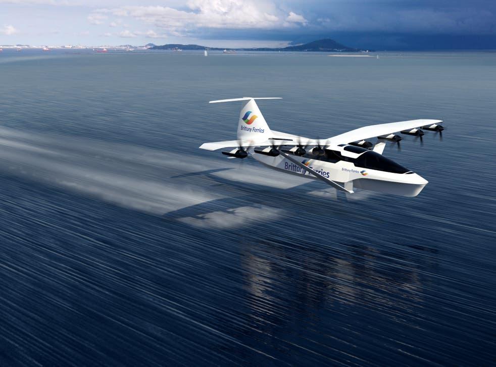 <p>Glide path: artist's impression of the SeaGlider</p>