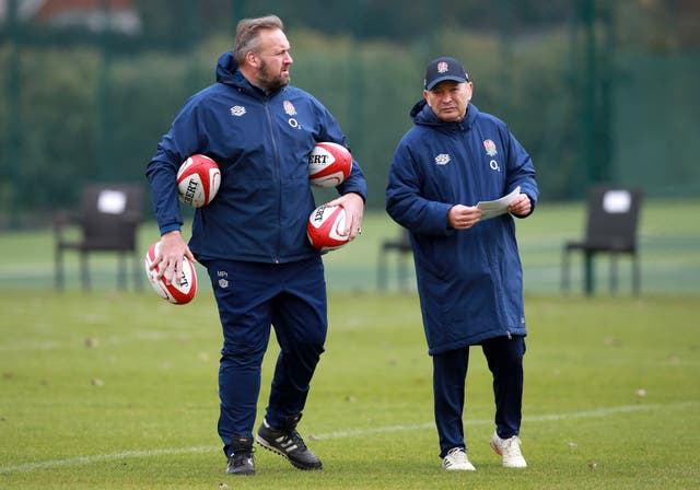 <p>Matt Proudfoot (left) and Eddie Jones (right) are looking at England's next generation of players</p>