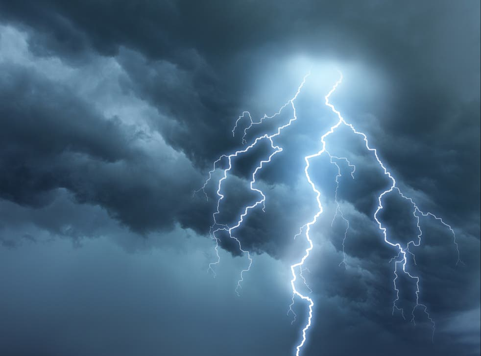 <p>Forecasters have warned 'intense' thunderstorms are set to hit the UK amid high temperatures</p>