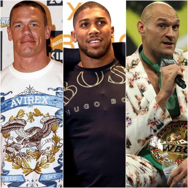 John Cena, Anthony Joshua and Tyson Fury