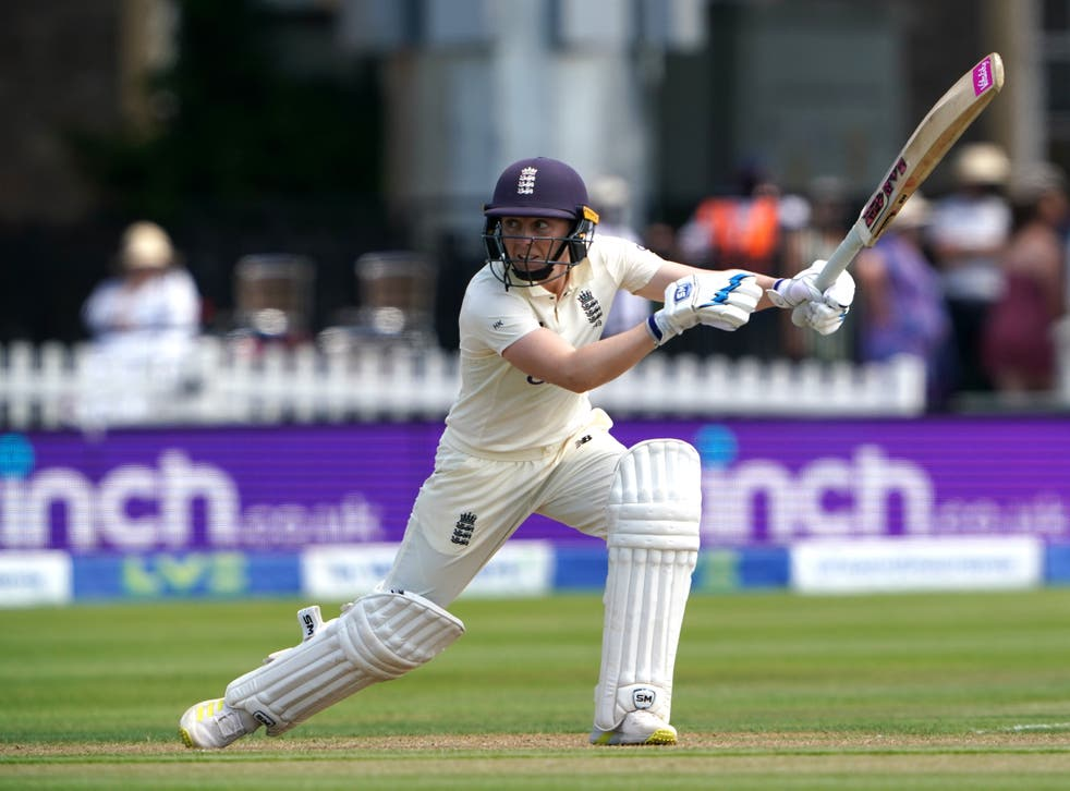 Heather Knight fell agonisingly short of a century in her 100th game as England captain