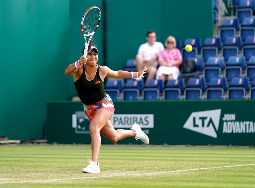 Heather Watson is through to the quarter-finals of the Viking Classic in Birmingham