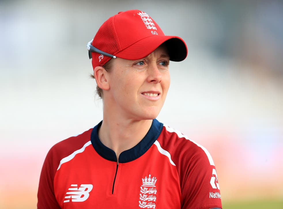 <p>Heather Knight admitted she was frustrated to fall agonisingly short of a century</p>