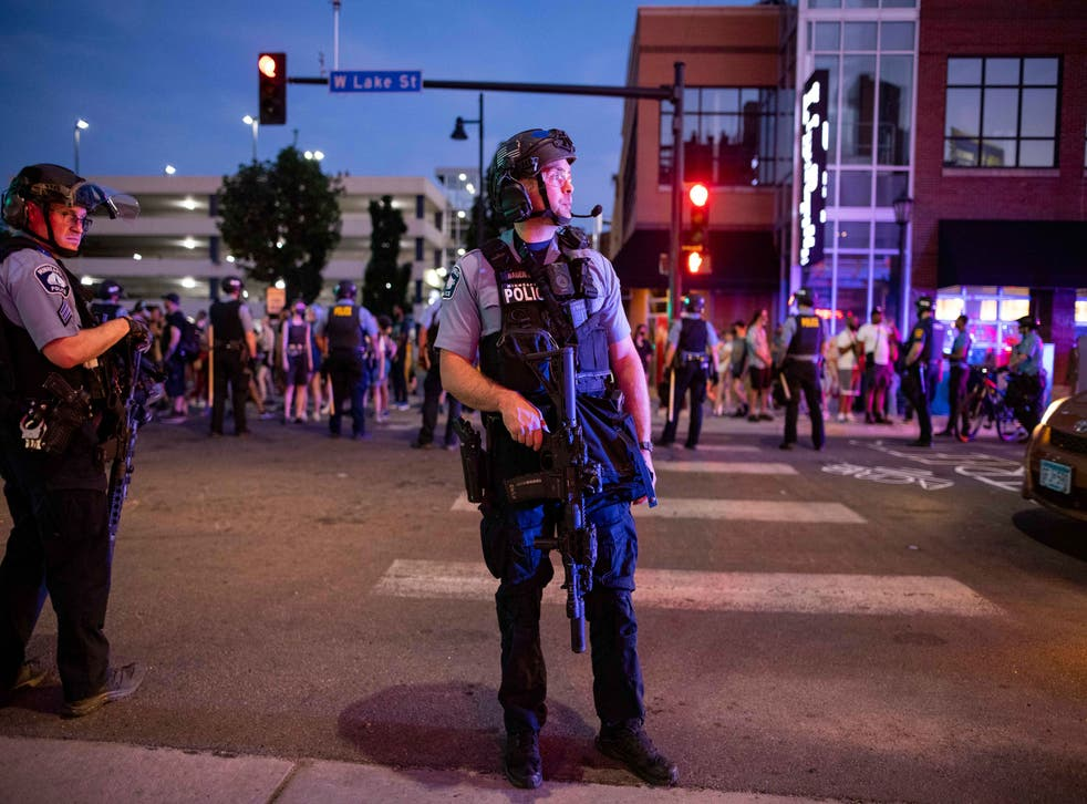 <p>On Tuesday evening, 15 June, 2020, heavily armed Minneapolis police cleared out a memorial site for Winston Smith, a Black man killed by local sheriff's earlier this month under murky circumstances.</p>