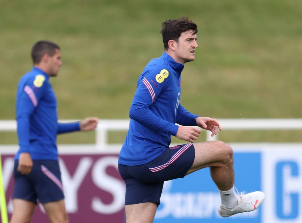 <p>Harry Maguire in England training</p>