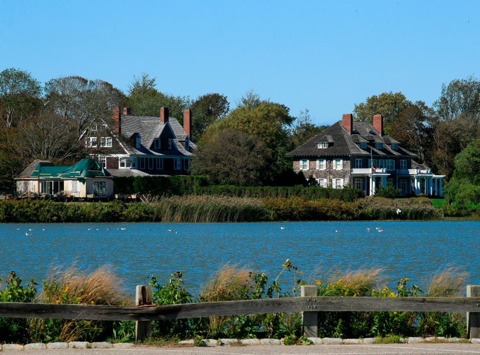 <p>A wealthy couple in the Hamptons is being sued for allegedly refusing to leave the house they'd been renting (not pictured)</p>