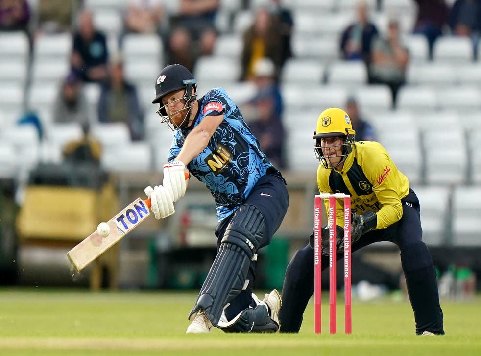 <p>Jonny Bairstow in action for Yorkshire</p>