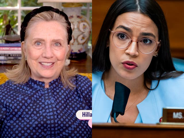 <p>Hillary Clinton and AOC back opposing candidates in Ohio</p>