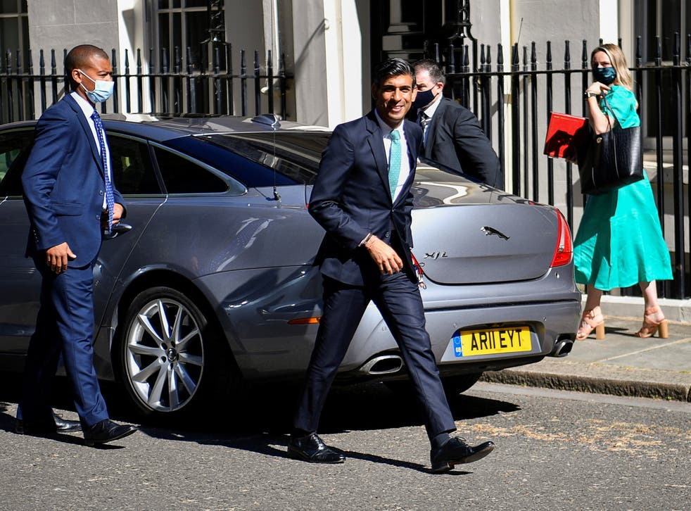 <p>The chancellor in Downing Street on Wednesday</p>