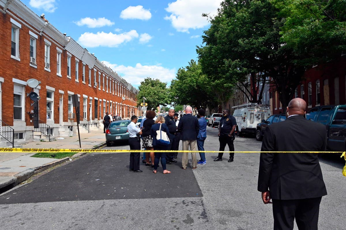 Image Police: 1 killed, 5 wounded in Baltimore shooting