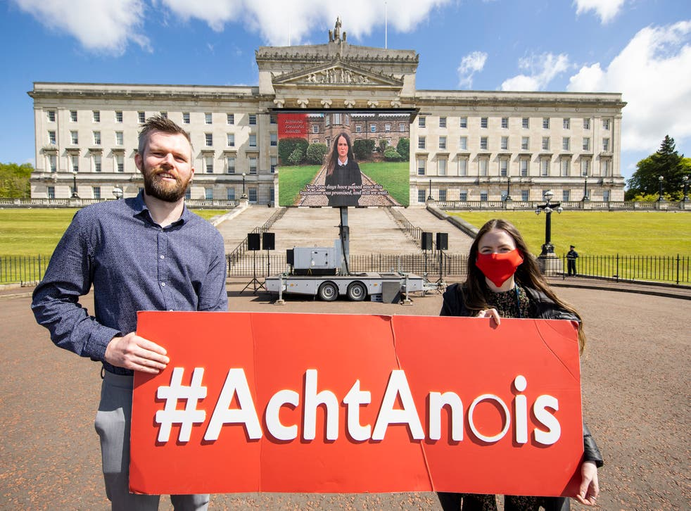 <p>Campaigners at Stormont have called upon the Northern Ireland Executive to implement legislation regarding Irish language rights.</p>