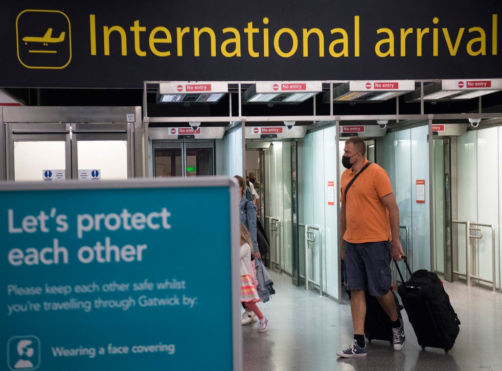 <p>Gatwick Airport has many flights to amber list destinations</p>