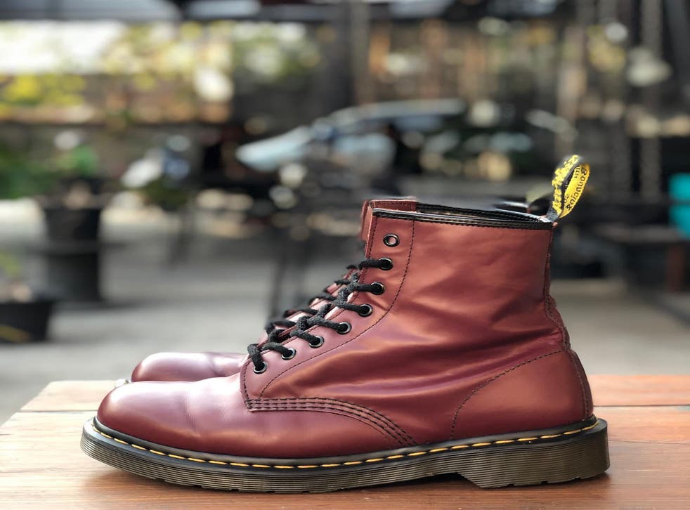 A pair of Dr Martens boots