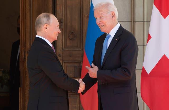 APTOPIX Biden Putin