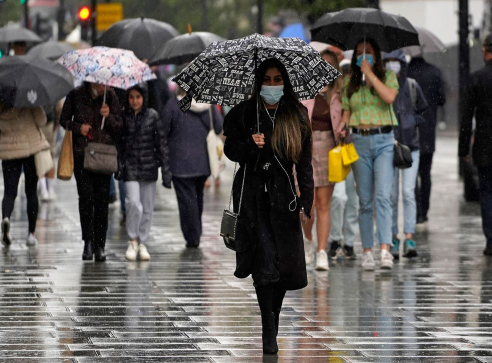 <p>Thunderstorm warnings remain in place across southern and eastern England following torrential rains on Wednesday night</p>