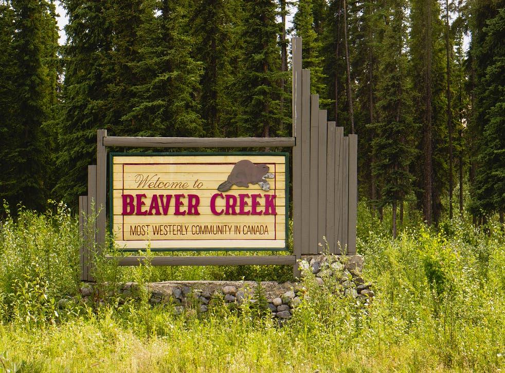 <p>The welcome sign at Beaver Creek, Yukon. Representational image.</p>