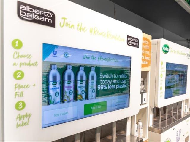 <p>Unilever refill machines in Asda </p>