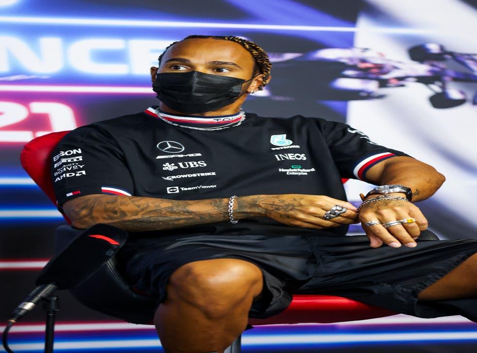 Lewis Hamilton is four points behind Max Verstappen