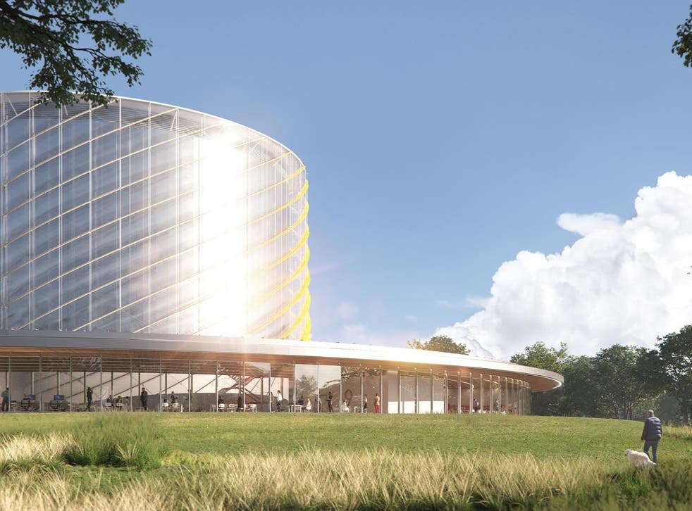 <p>An artist's impression of the new plant, scheduled to start work in four years' time</p>