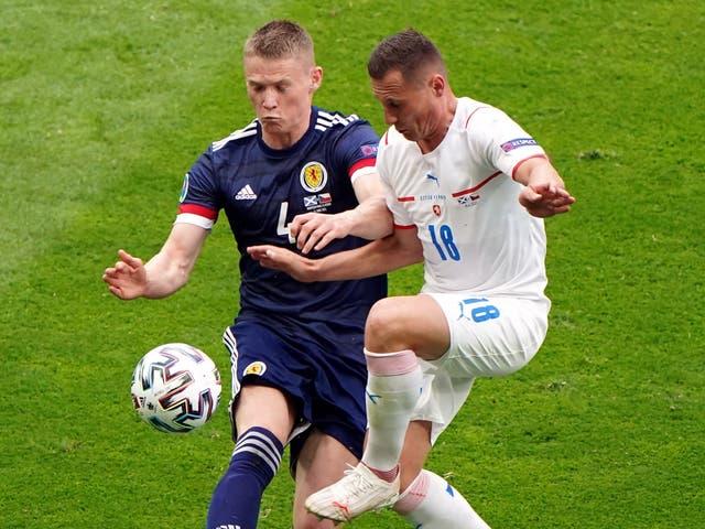 <p>Scotland's Scott McTominay in action</p>