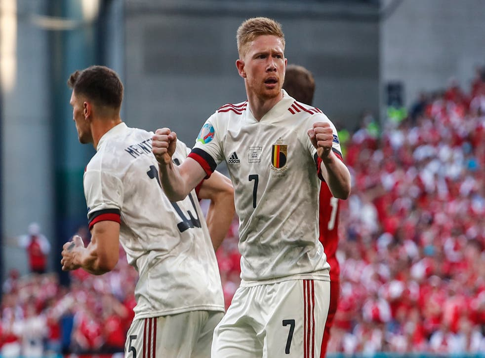 <p>Kevin De Bruyne starred from the bench as Belgium booked their place in the last 16 at Euro 2020</p>