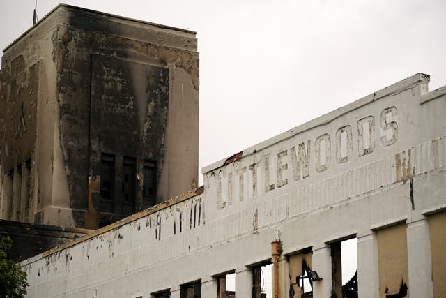 <p>The Littlewoods Pools building, Liverpool, after being  ravaged by fire in 2018</p>