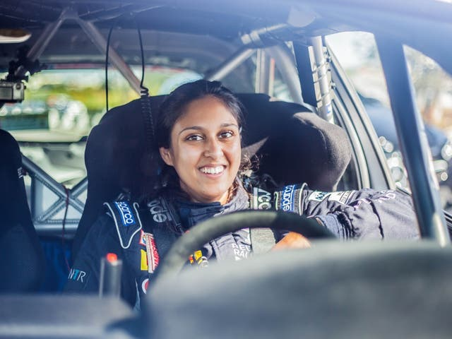 <p>NabilaTejpar is competing in the European Rally Championship</p>