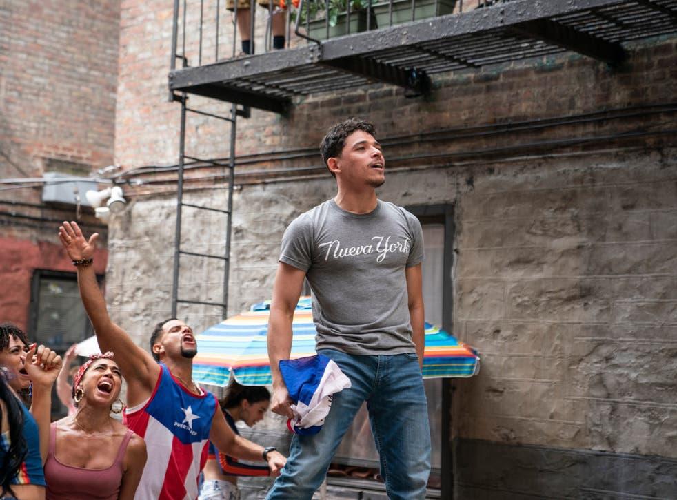 <p>Anthony Ramos as Usnavi</p>