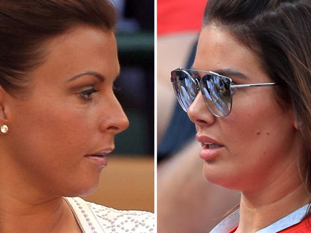 <p>Rebekah Vardy (right) is suing Coleen Rooney (left) for libel after she accused her of selling false stories to the press</p>