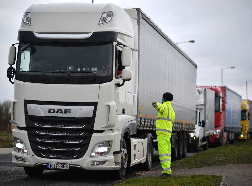 <p>A shortage of drivers has led to gaps on supermarket shelves </p>
