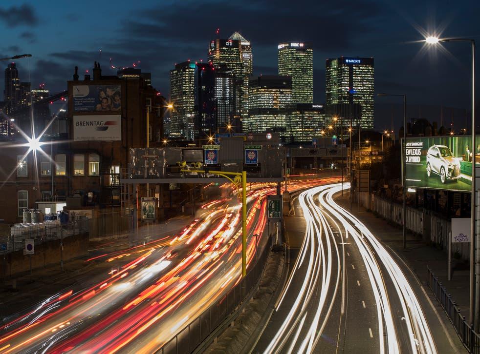 <p>Rush hour London traffic </p>