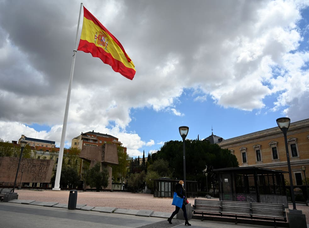 <p>Nearly half the population of Spain have recieved at least on vaccine dose</p>