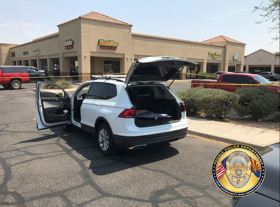 <p>A Volkswagen Tiguan driven by a shooter in Phoenix on Thursday</p>