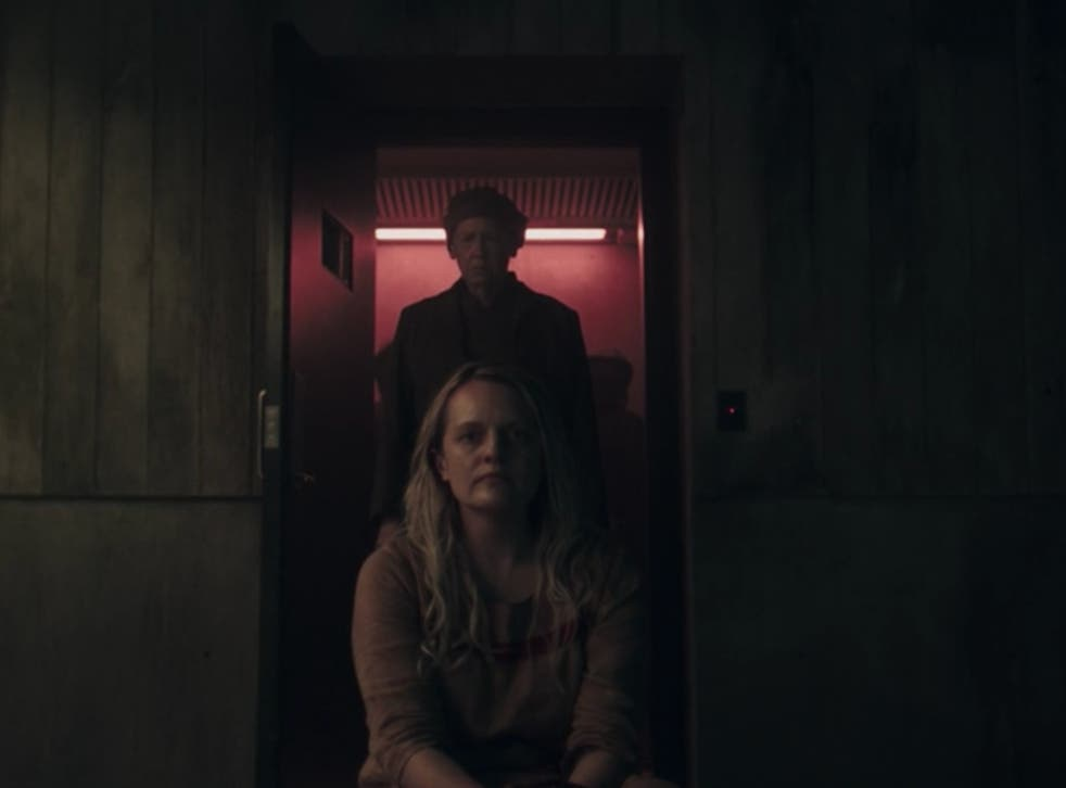 <p>Elisabeth Moss and Ann Dowd in season four episode three of 'The Handmaid's Tale'</p>