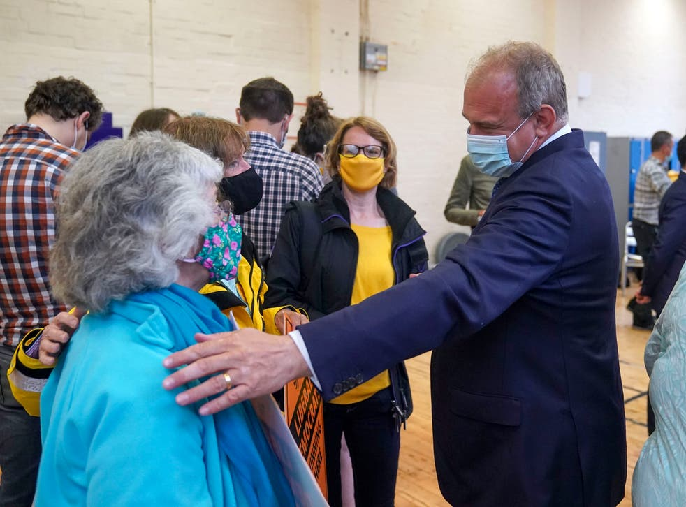 <p>Ed Davey shortly after the by-election victory on Friday</p>
