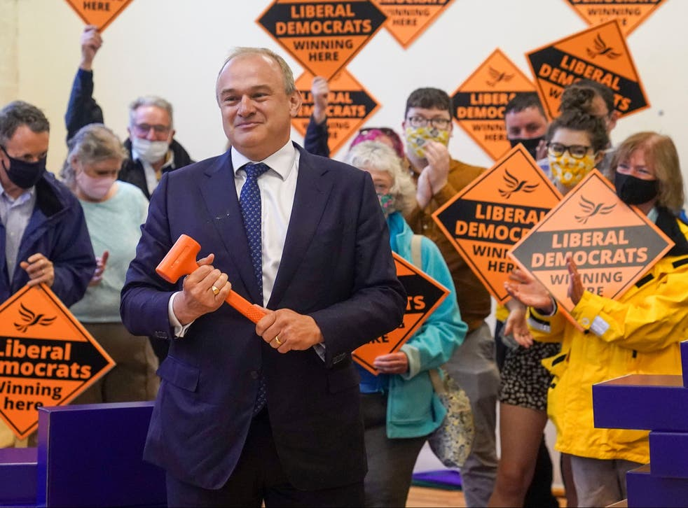<p>A good night for the Lib Dems and its leader Ed Davey</p>