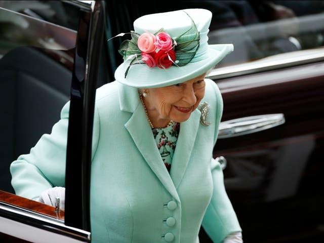 <p>Queen Elizabeth II arrives at the Royal Ascot on Saturday 19 June 2021</p>