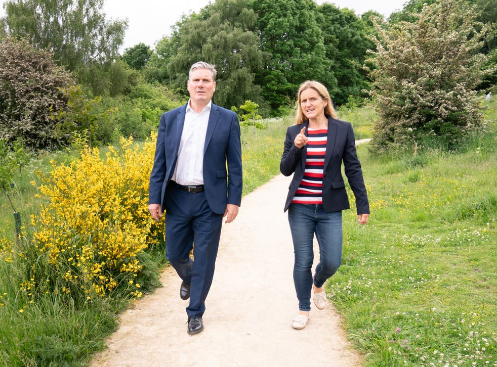<p>Labour leader Keir Starmer with local candidate Kim Leadbeater</p>