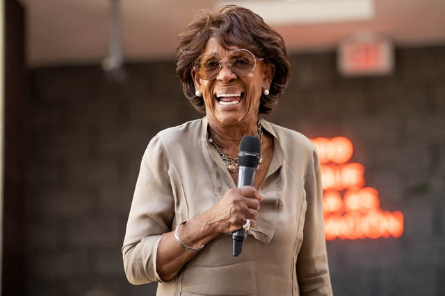 <p>Maxine Waters says when Mitch McConnell 'opens his mouth I tend to turn him off'</p>