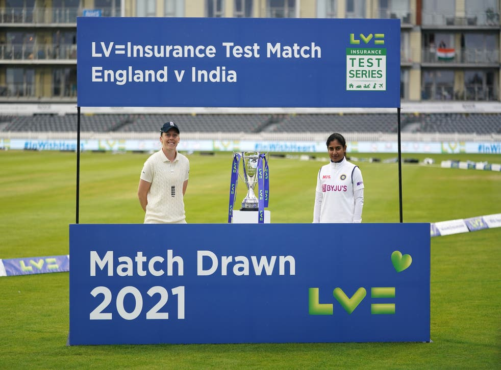 """<p>England captain Heather Knight said her side were """"almost robbed"""" of a thrilling finish because the Test match was only four days</p>"""