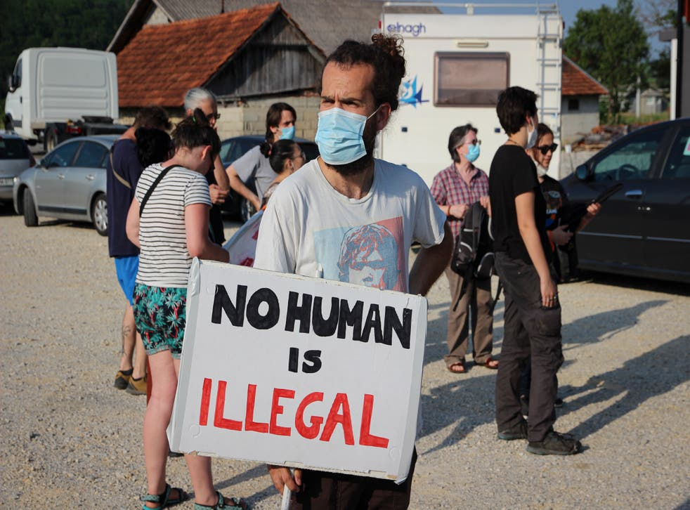 Migration Croatia Protest